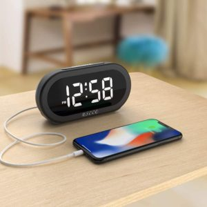 USCCE Small LED Digital Alarm Clock